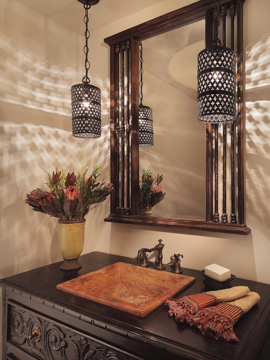 Simple yet beautiful ways to create rich moroccan d cor - Spanish style bathroom sinks and vanities ...