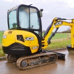 mini excavator for garden renovation