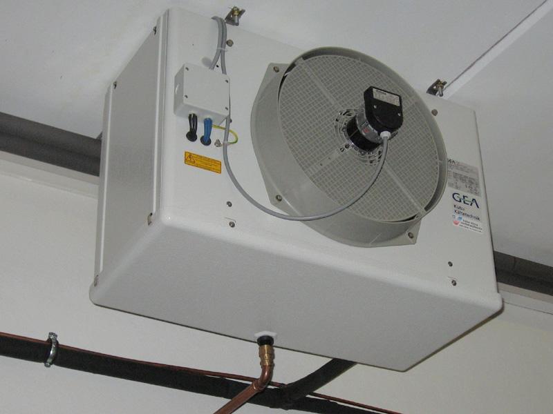 Evaporator of a vapor compression refrigeration installation