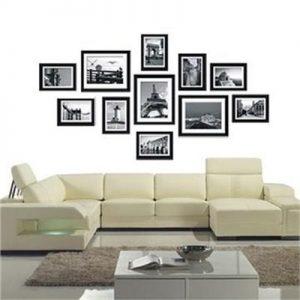 ojam livingstyles 11 pcs Photo Frames Set Wall Black