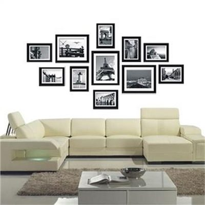 ojam livingstyles 11 pcs Photo Frames Set Wall Black